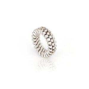 Extendable Diamond White Gold Ring